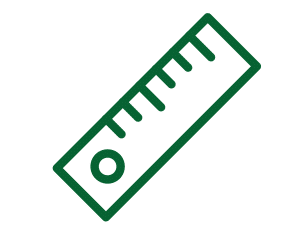 Small green ruler icon